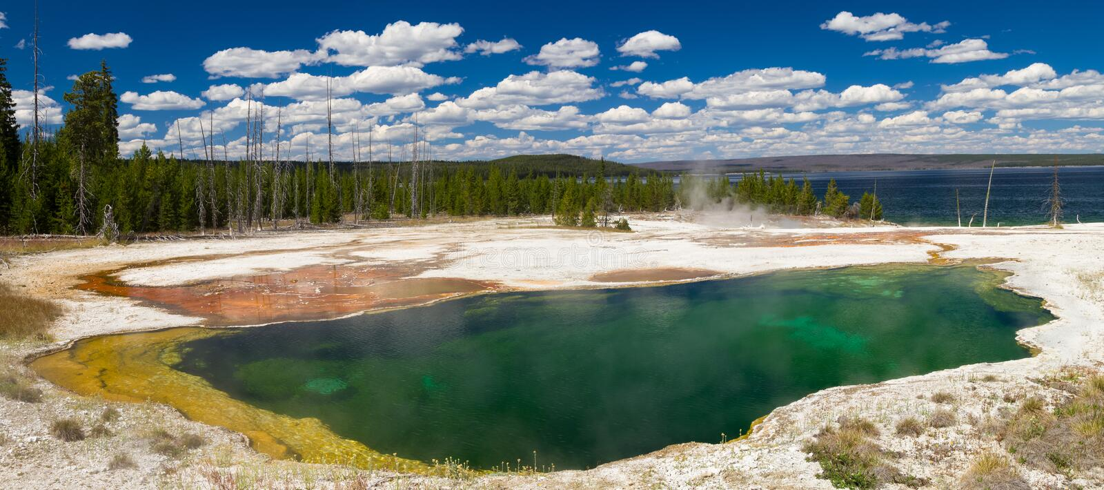Abyss Pool at West Thumb Geyser Basin. Yellowstone National Park, Wyoming, USA stock images