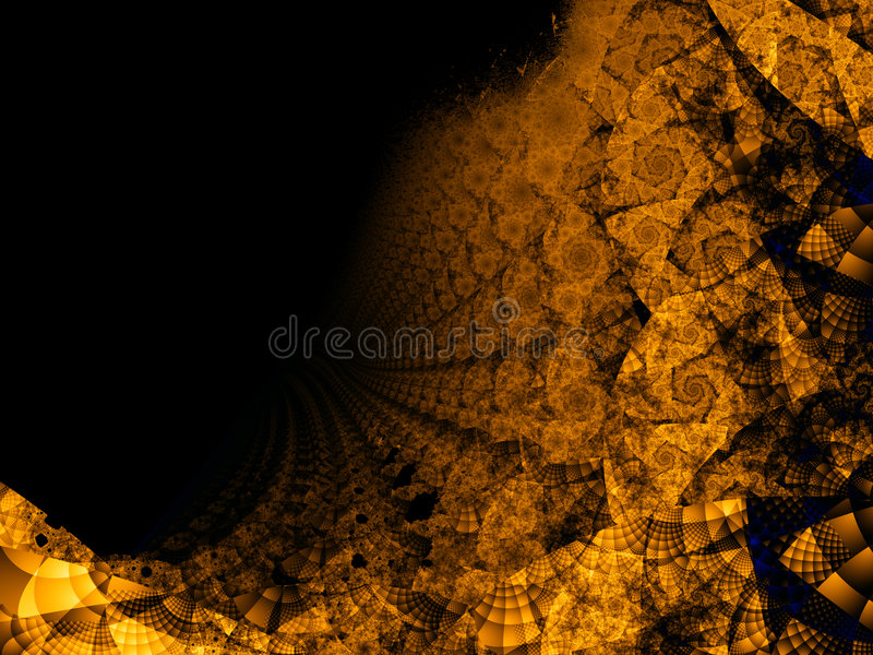 Abyss spiral. Fractal image, expression of infinity stock illustration