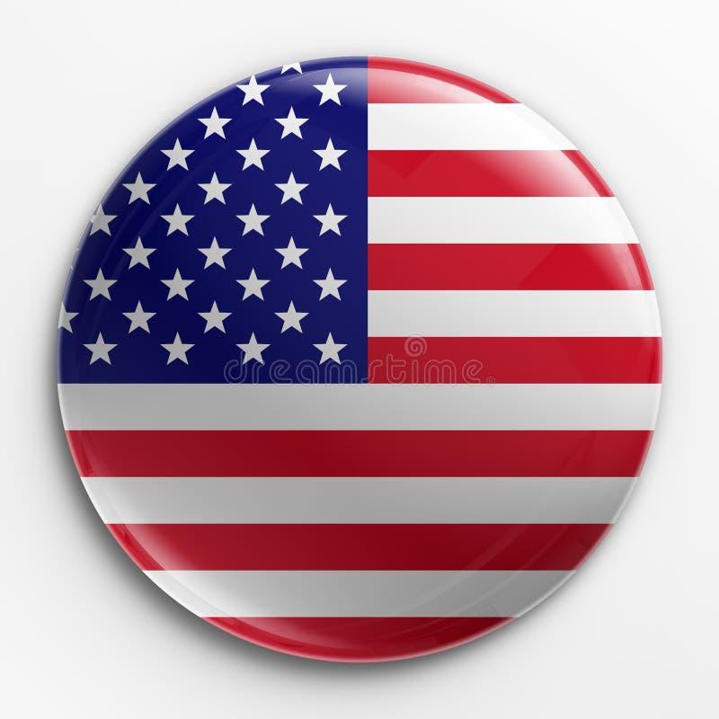 Abzeichen - amerikanische Flagge lizenzfreie abbildung