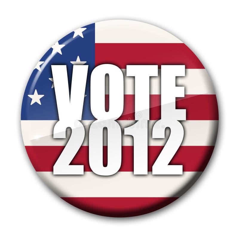 Abzeichen der Abstimmung-2012 stock abbildung