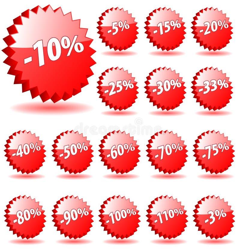 Abzeichen des Rabattes 3D. stock abbildung