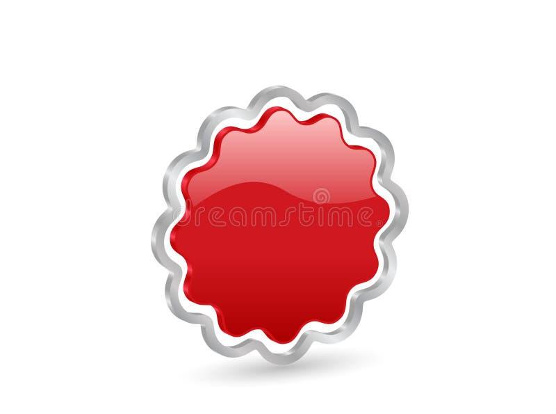 Abzeichen des Rotes 3D stock abbildung