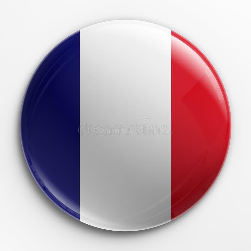 Abzeichen - französische Markierungsfahne vektor abbildung