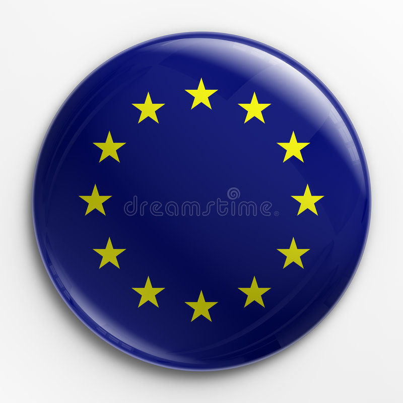 Abzeichen - Markierungsfahne von Europa vektor abbildung