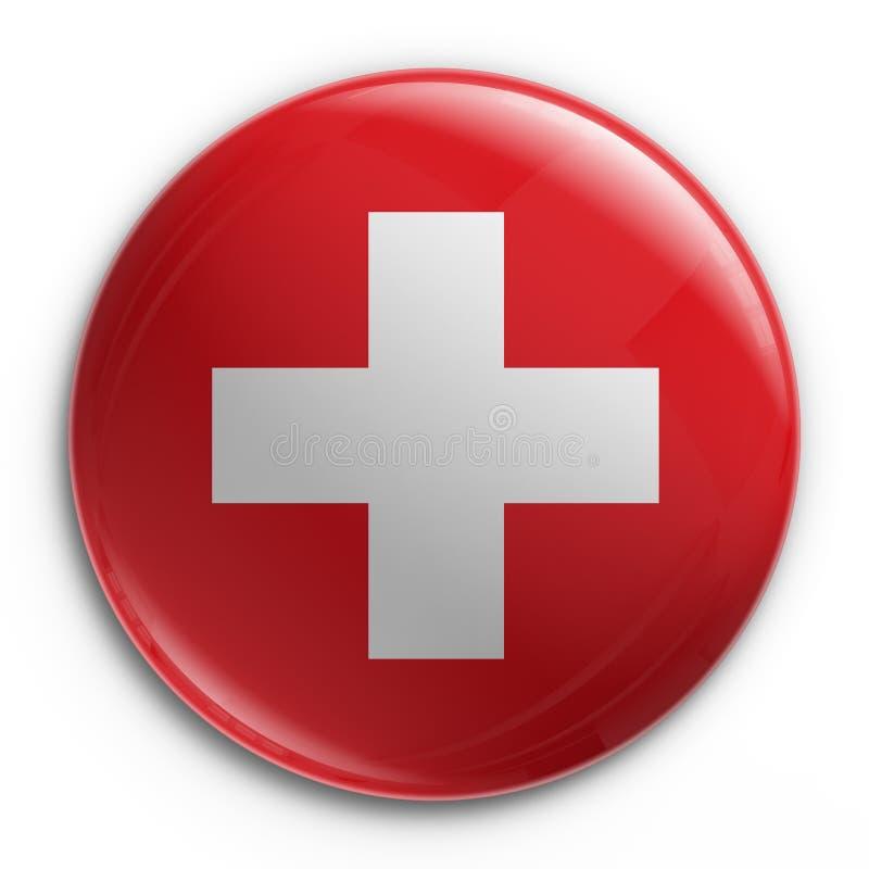 Abzeichen - Schweizer Markierungsfahne lizenzfreie abbildung