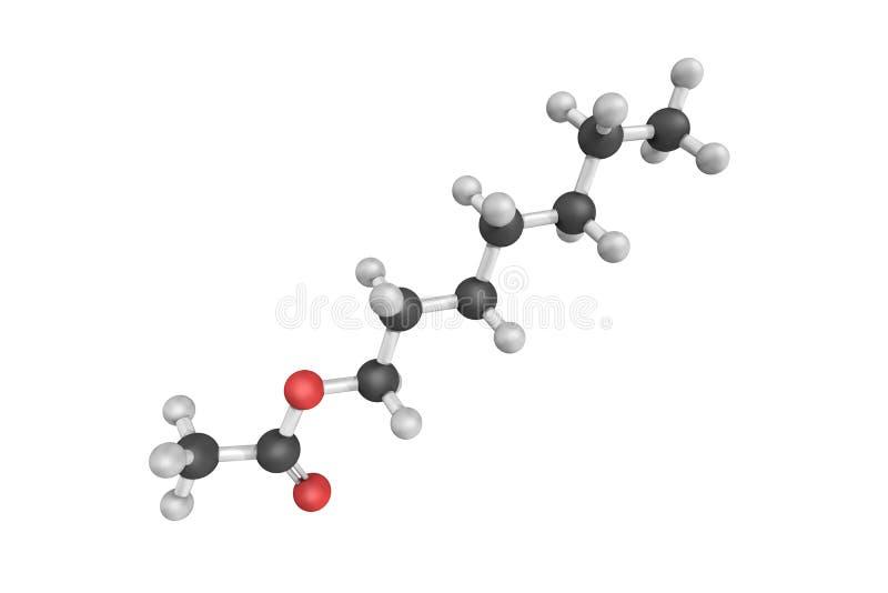 Acétate de Heptyl, utilisé comme assaisonnement d'essence de fruit dans les nourritures et l'a photo stock