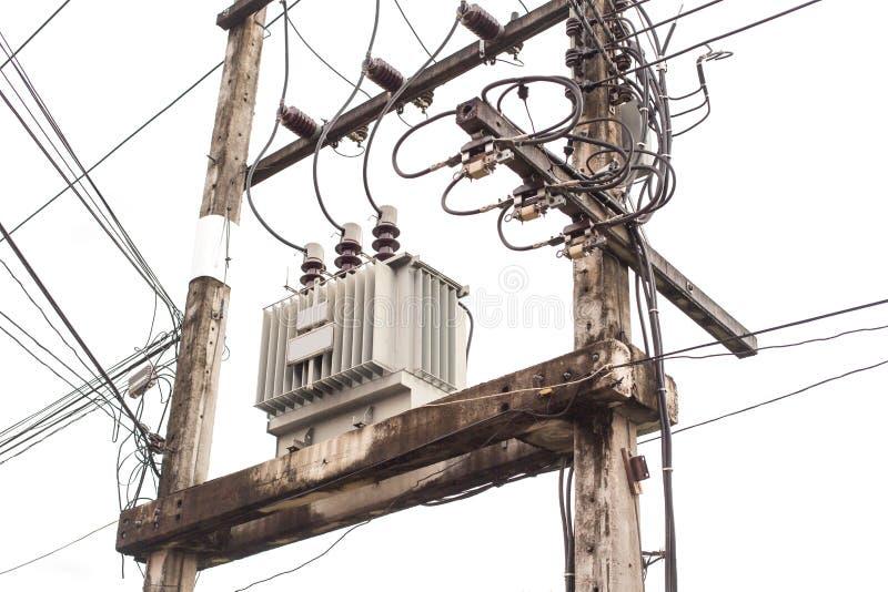 AC高压电源变压器 免版税库存照片