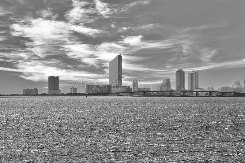 AC. Atlantic City seen from across Reed's Bay royalty free stock images