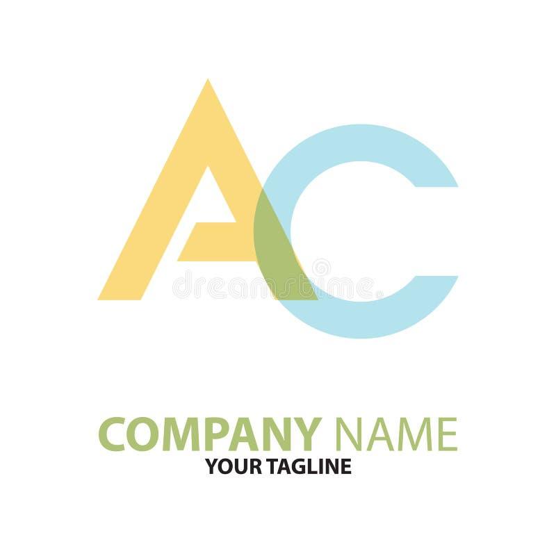 Download AC CA Aanvankelijk Embleemconcept Vector Illustratie - Illustratie bestaande uit geïsoleerd, embleem: 114226917