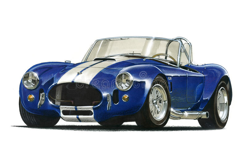 AC Cobra sports car vector illustration