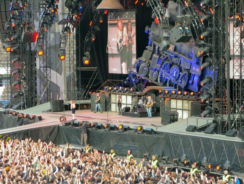 AC/DC op Reis stock fotografie