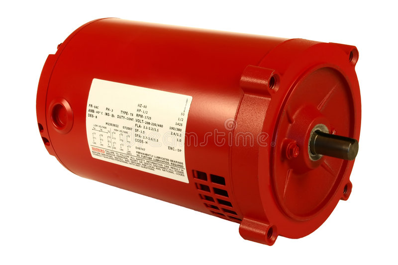 AC Electric Motor. Three Phase Magnetic Induction Motor royalty free stock photos