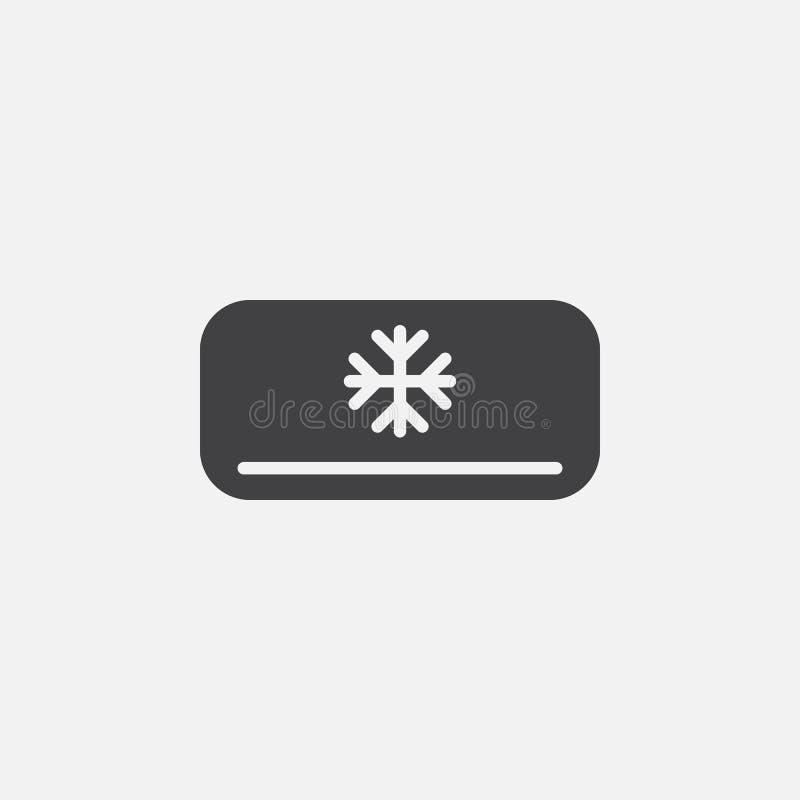 Ac-enhetssymbol, vektorlogoillustration, pictogram som isoleras på vit stock illustrationer