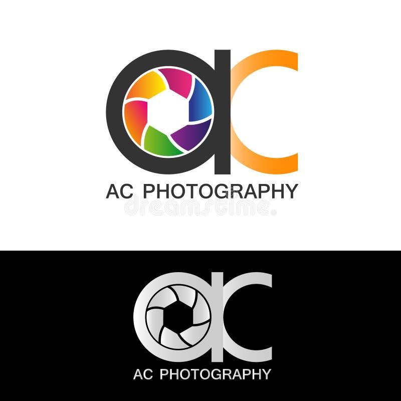AC fotografii loga szablonu wektoru nowożytna ilustracyjna ikona ilustracji