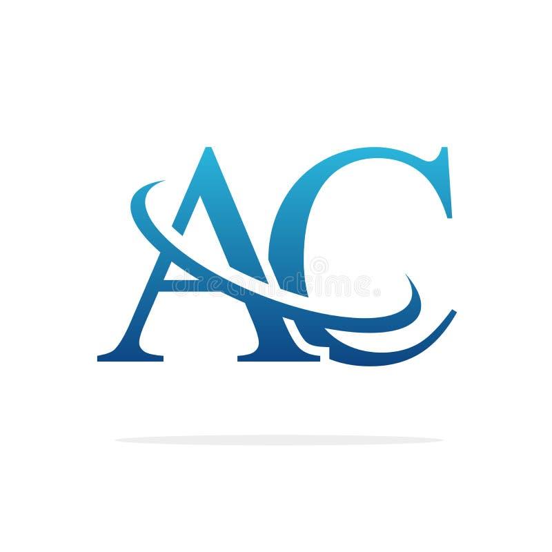 AC het Creatieve vectorart. van het embleemontwerp stock illustratie