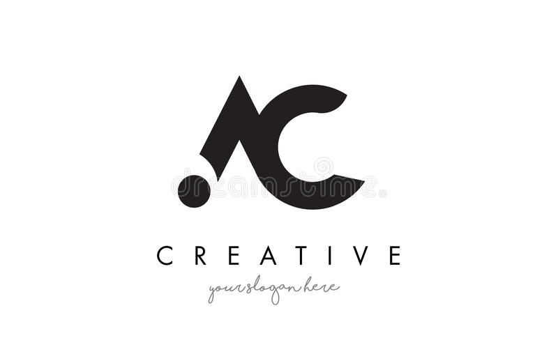 AC Letter Logo Design With Creative Modern Trendy Typography ...