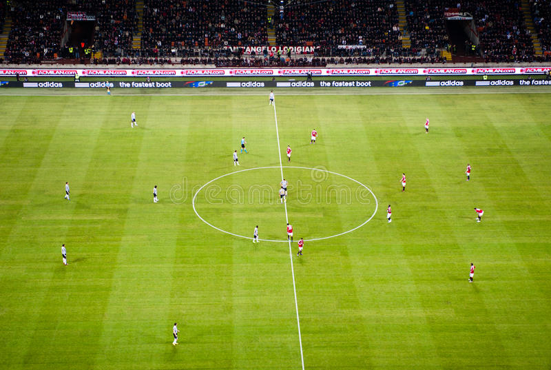 AC Mailand - Juventus stockfotografie