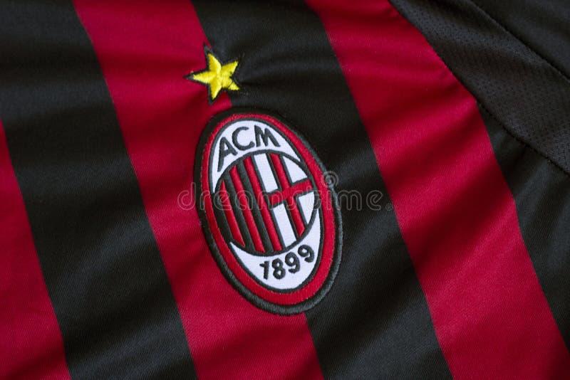 AC Milaan embleem stock afbeeldingen