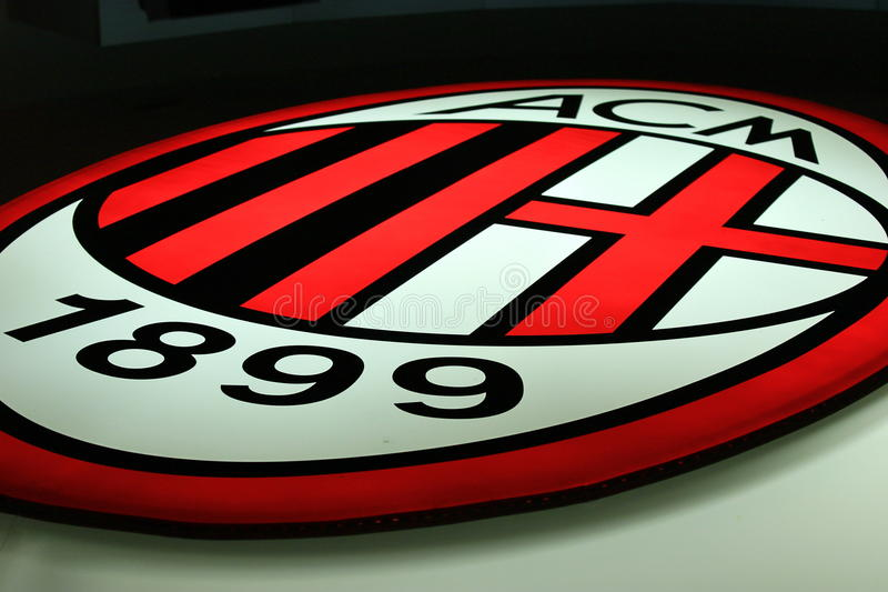 Download AC Milan editorial stock image. Image of logo, associazione - 17701679