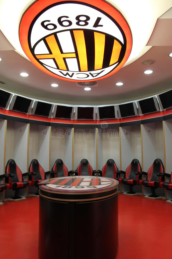 AC Milan changing rooms