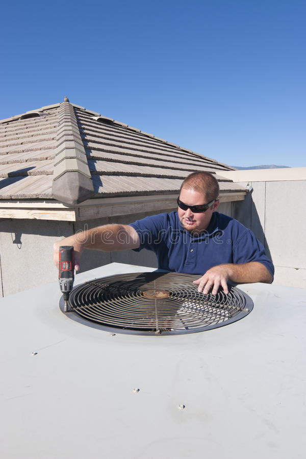 Download AC Repair Man stock photo. Image of service, grill, installation - 20808684