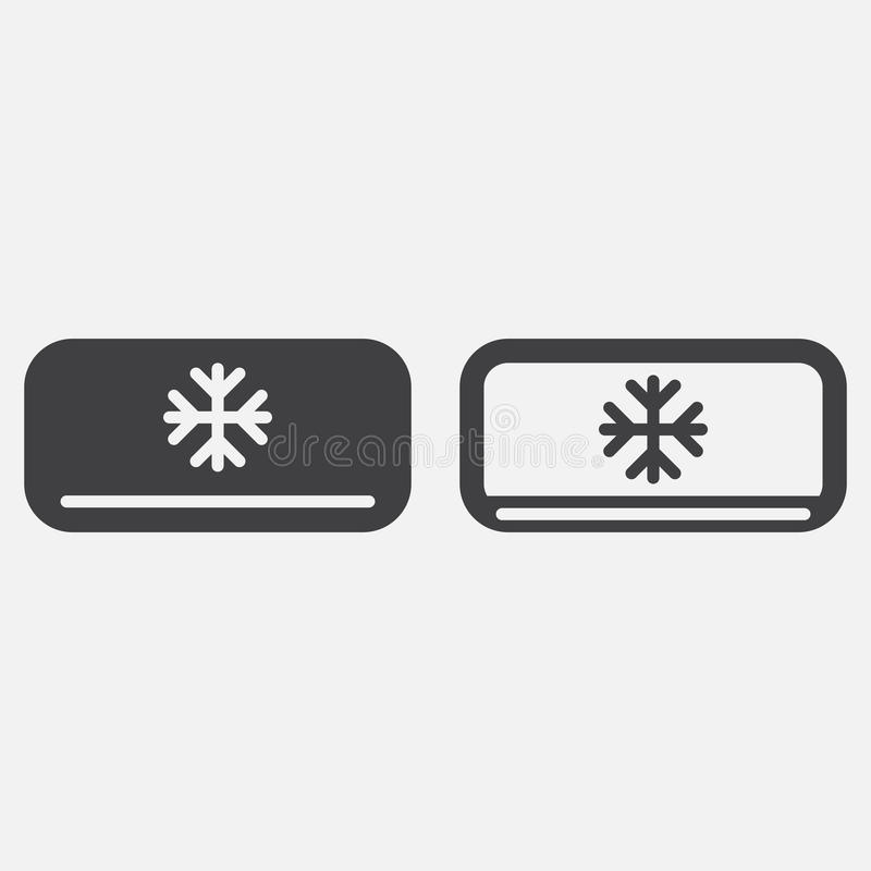 AC Unit Icon Vector Isolated On White. Stock Vector - Illustration ...