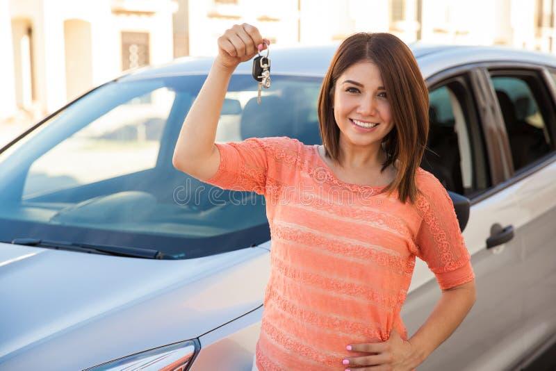 ¡Acabo de comprar un coche! fotos de archivo