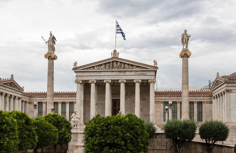 Académie Athènes Grèce d'arts photo stock