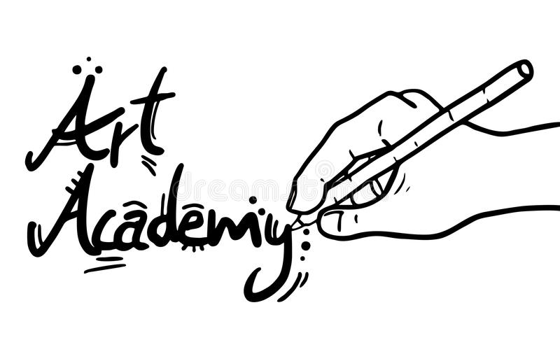 Académie d'art illustration libre de droits