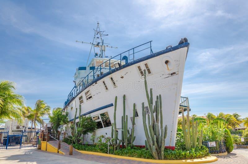 Académie d'entrée et de dauphin d'aquarium de mer du Curaçao photographie stock