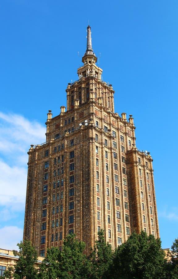 Académie des sciences letton à Riga photo stock