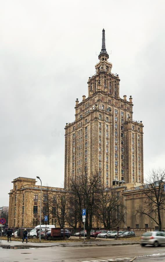 Académie des sciences letton, Riga photographie stock