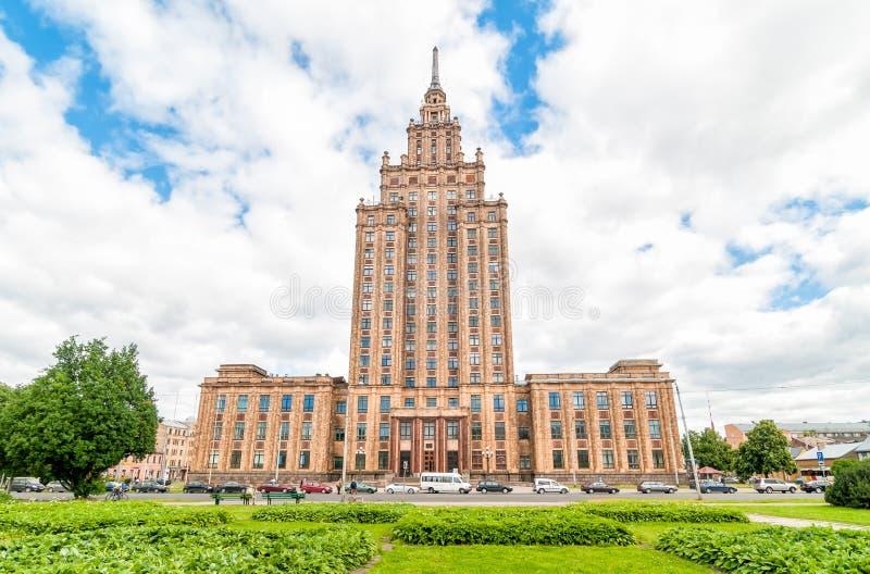 Académie des sciences letton, Riga images stock