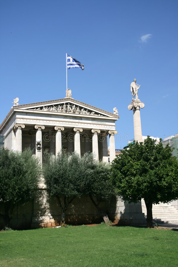 Academia of athens. Greece one of the landmarks of the town royalty free stock photo