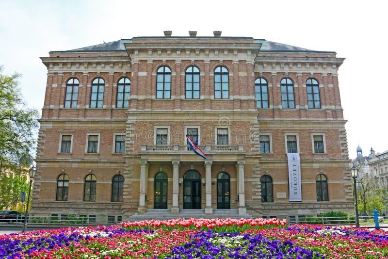 Academia croata de ciencias y de artes imagen de archivo