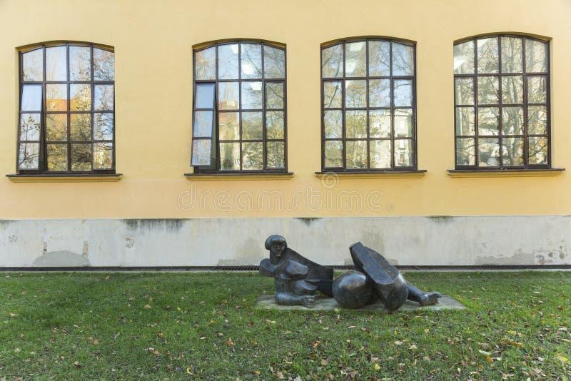 Academia de bellas arte, universidad de Zagreb, Croacia imágenes de archivo libres de regalías