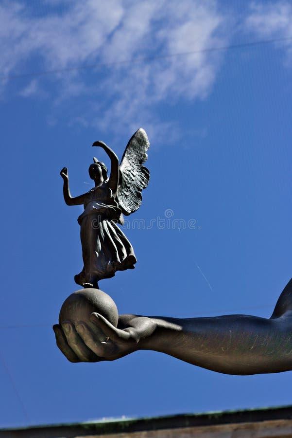 Academia de Brera en Mil?n Detalle de la escultura de Canova: Napoleon B fotos de archivo