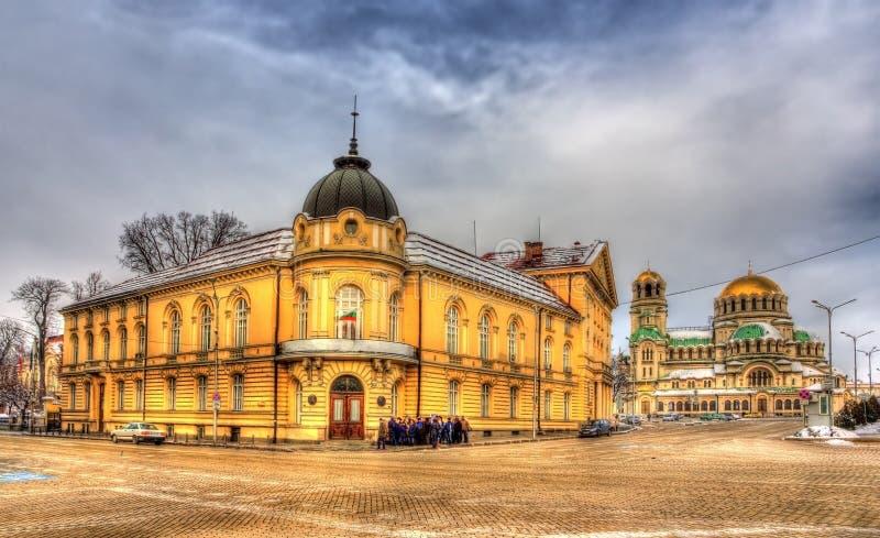 A academia de ciências búlgara imagens de stock royalty free