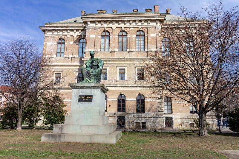 Academia de ciências croata e de arte em Zagreb, Croácia fotos de stock