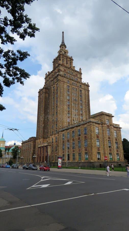 Academia de ciências letão em Riga foto de stock royalty free