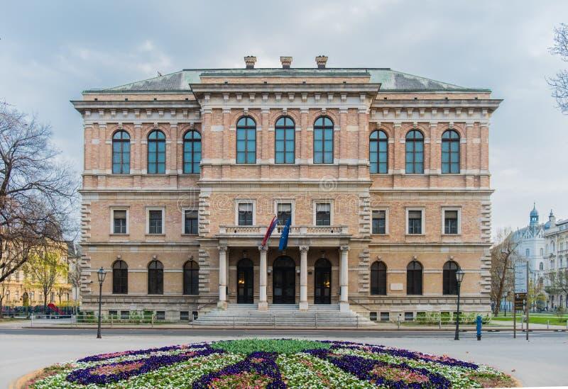 Academia de ci?ncias croata e de artes em Zagreb foto de stock