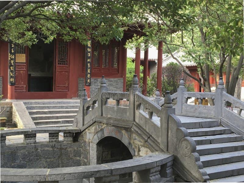Academia de Songyang na cidade de Dengfeng, China Central imagens de stock