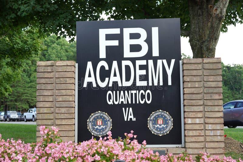 Academia do treinamento do FBI imagem de stock royalty free