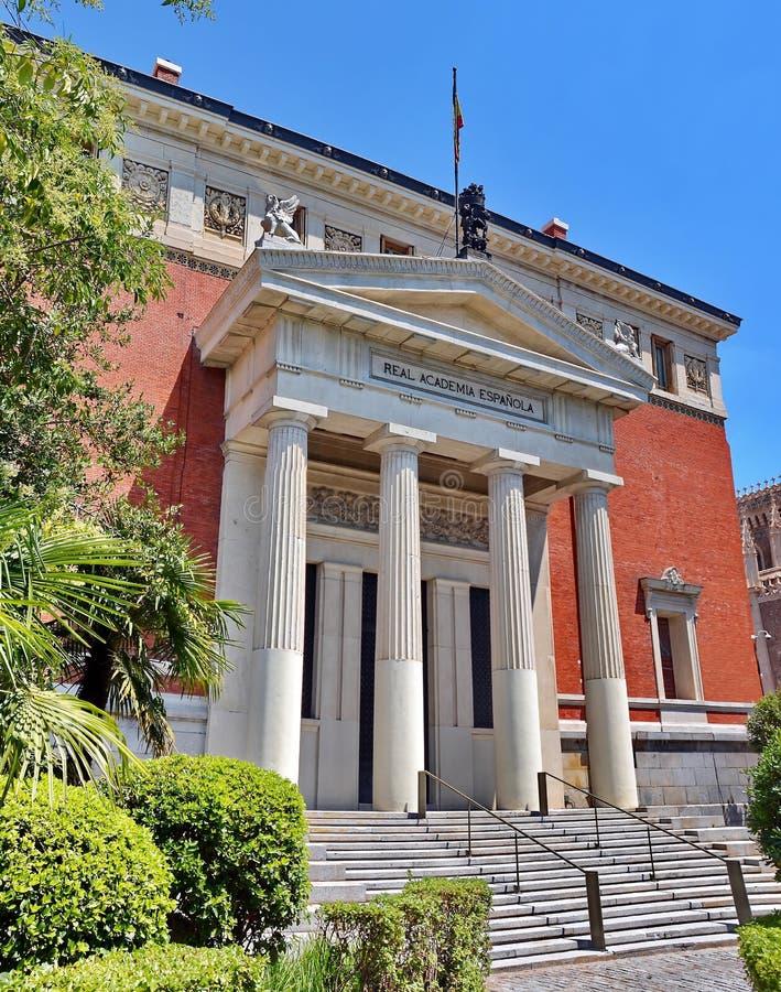 Academia espanhola real no Madri, Espanha imagem de stock
