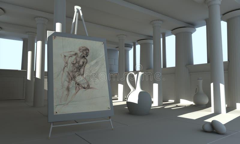 Academia grega 06 ilustração royalty free