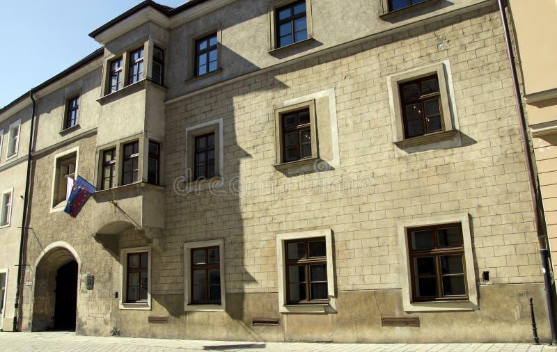 Academia Istropolitana em Bratislava, Slovakia imagem de stock