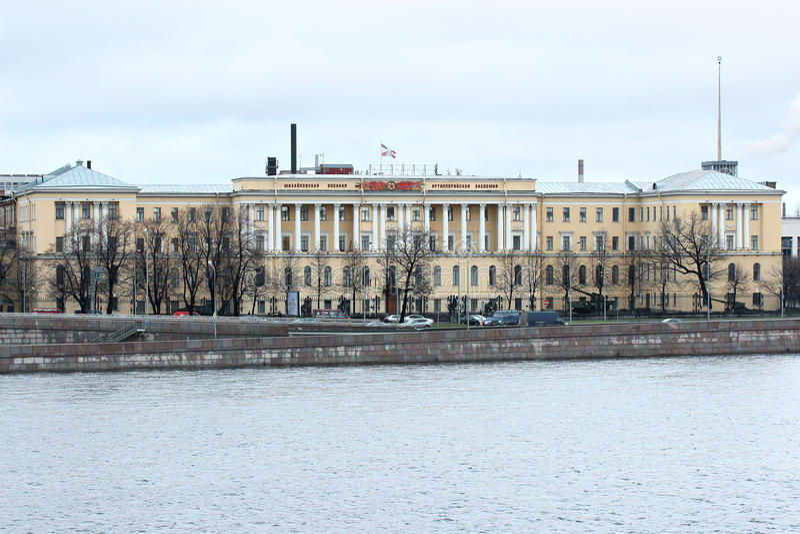 Academia militar de la artillería de Michael en St Petersburg imagenes de archivo