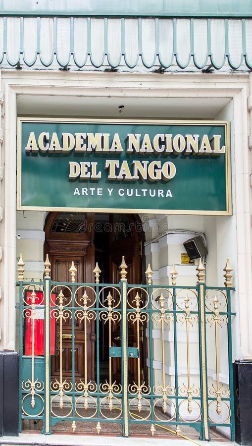 Academia Nacional del Tango Buenos Aires stock photo