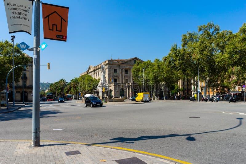 Academia real Catalana de Bellas Artes de San Jorge em Barcelona imagens de stock