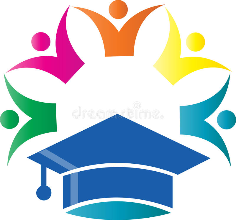 Academic Cap. With group of people has been created as vector vector illustration